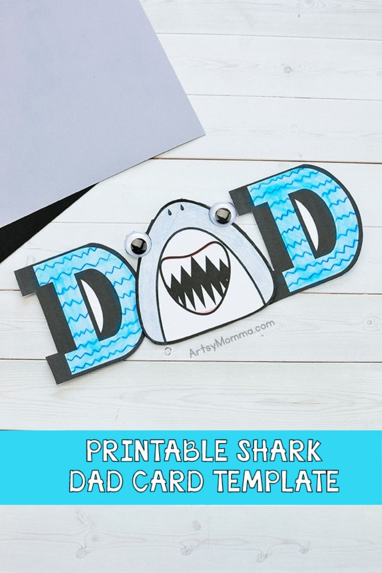 Daddy Shark Card for Father's Day