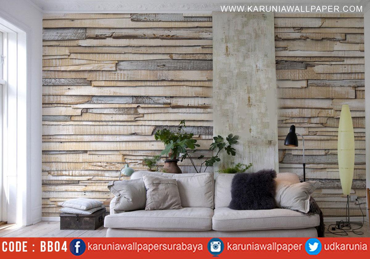 jual wallpaper motif dinding kayu