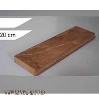 harga lantai kayu Jati grade A 20 cm