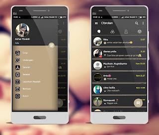 BBM Mod Aksara Apk 3.2.5.12 Batik Themes