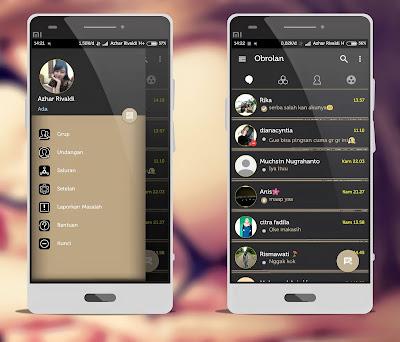 BBM Mod Aksara Apk 3.3.7.93 Batik Themes, Full DP, Block Read Status