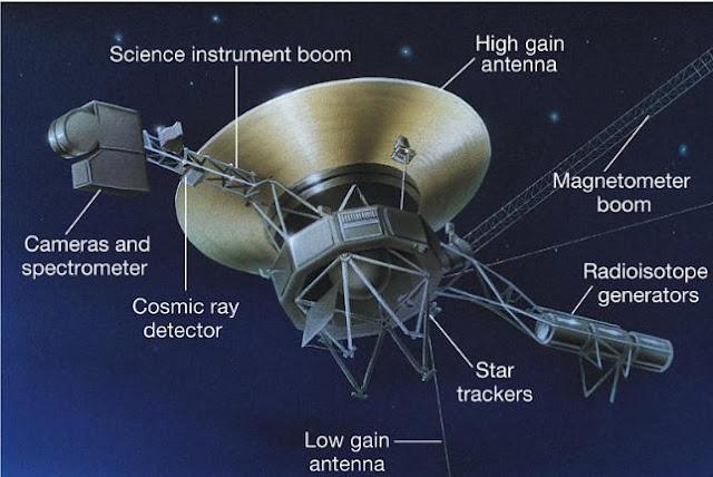 Outro desenho da Voyager 1 que difere do primeiro