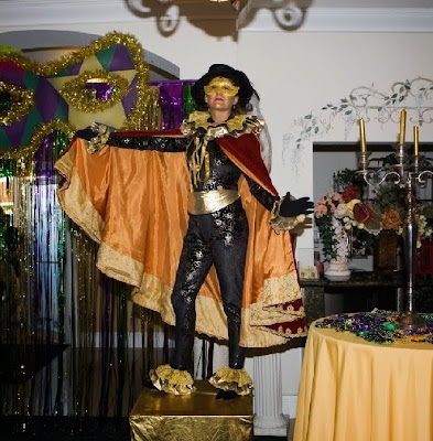 Quinceanera Mardi Gras themed party entertainment