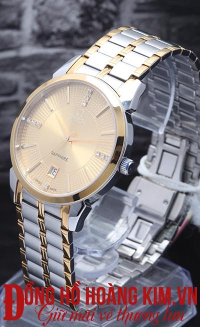 đồng hồ nam dây thép omega siêu hot