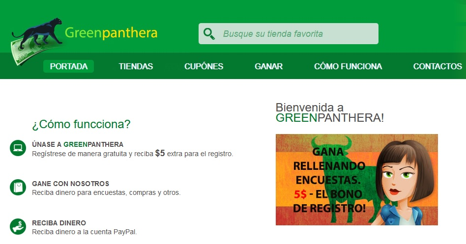 Green Panthera, gana dinero Online