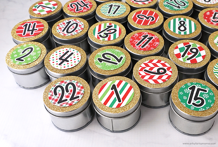 Magnetic Advent Calendar Wreath