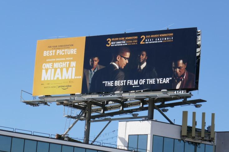 One Night in Miami nominee billboard