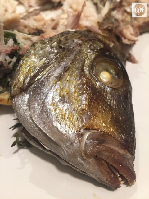 Whole roasted scup, an economical and sustainable seafood dinner that is delicious and easy!