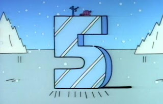 The 5s are located at the poles. Sesame Street The Great Numbers Game