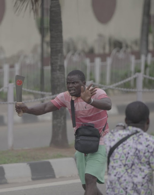 Identity Of One Of The Thugs Who Disrupted Alausa Protest Revealed! Do You Know Him?