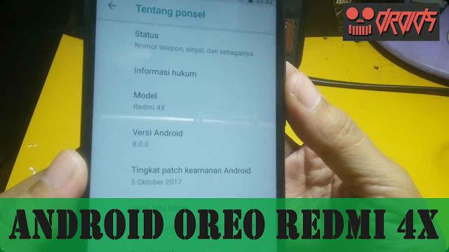 Android Oreo Redmi 4x