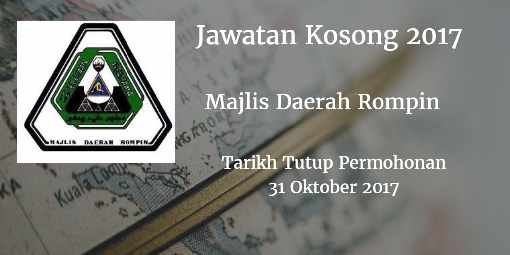 Jawatan Kosong MD Rompin 31 Oktober 2017