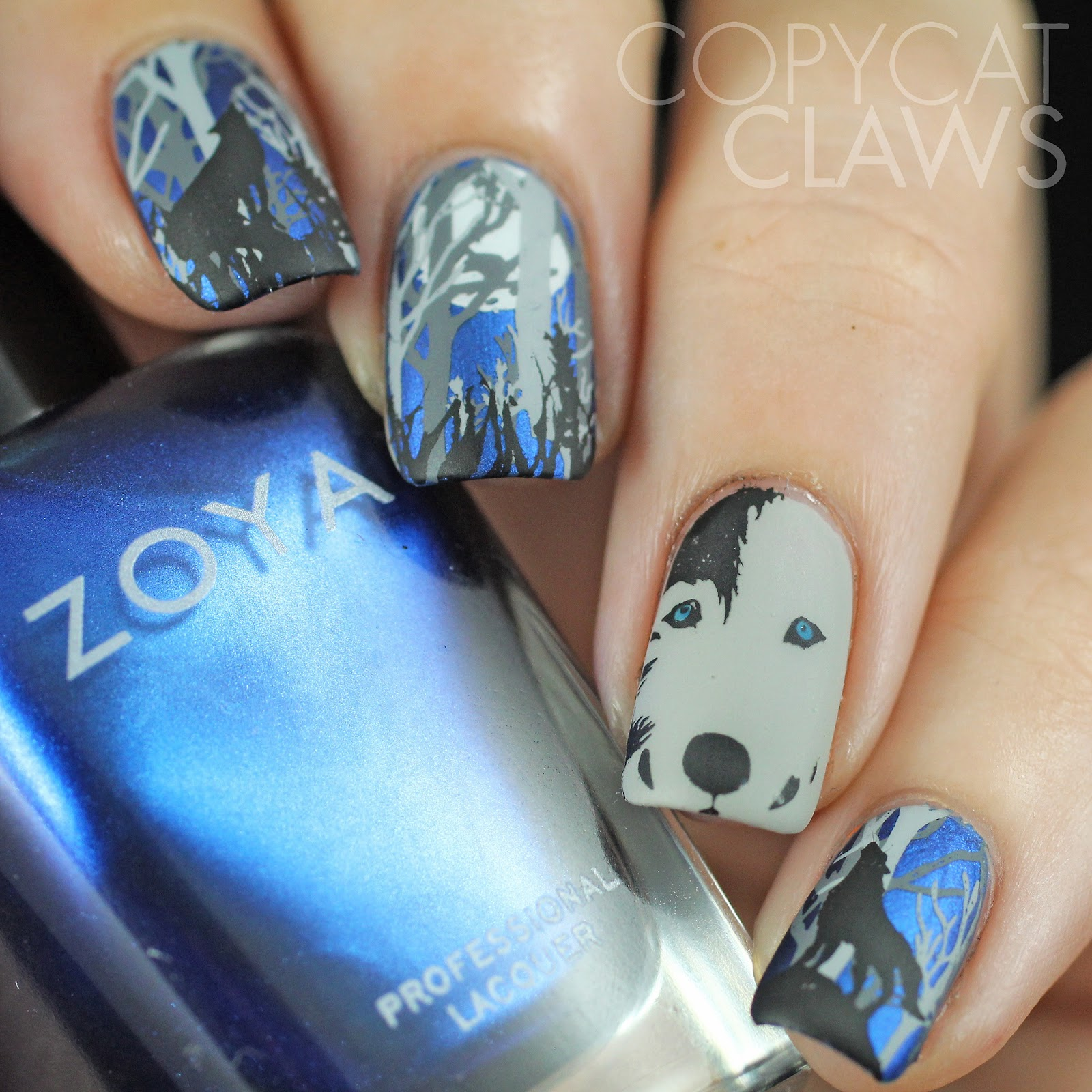 Luckily I Still Have My Notes On How Did These Started With 2 Coats Of Zoya Estelle Or Dove For The Grey Nail Easy Peasy Base Colors