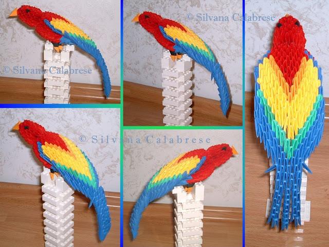 Origami 3D Pappagallo pappagallino Silvana Calabrese - Blog
