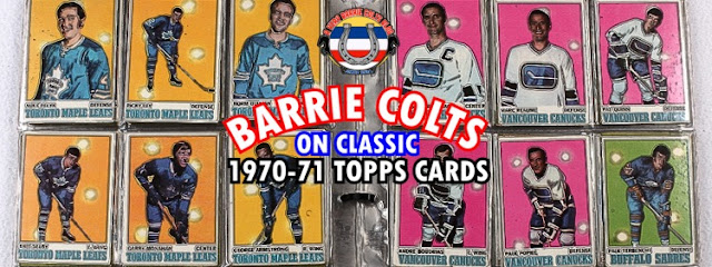 Barrie Colts on Classic NHL Cards: 1970-71 Topps.