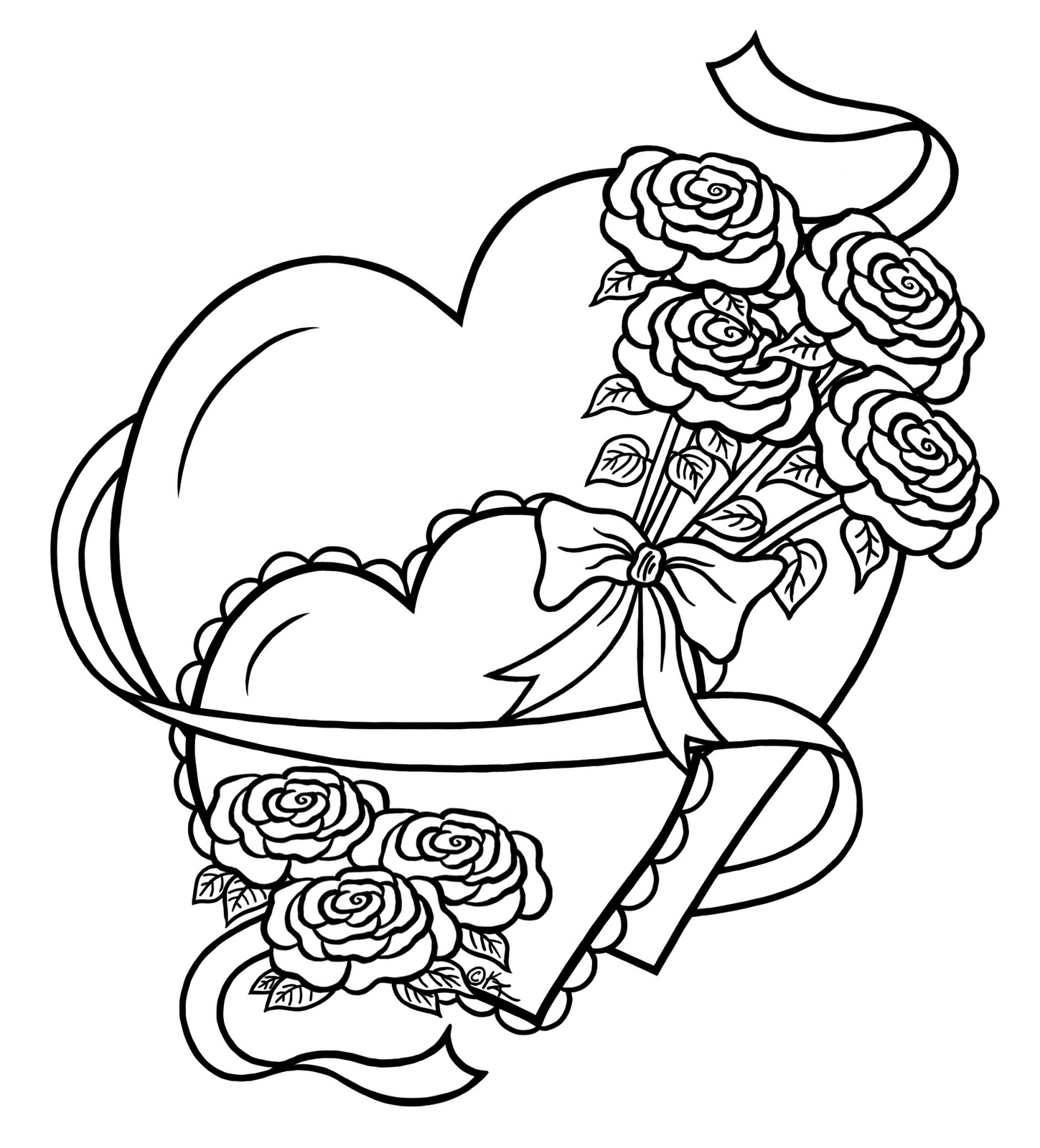 Free Coloring Pages Of Cool Hearts For Teens