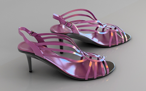 ladies shoes 3d model free