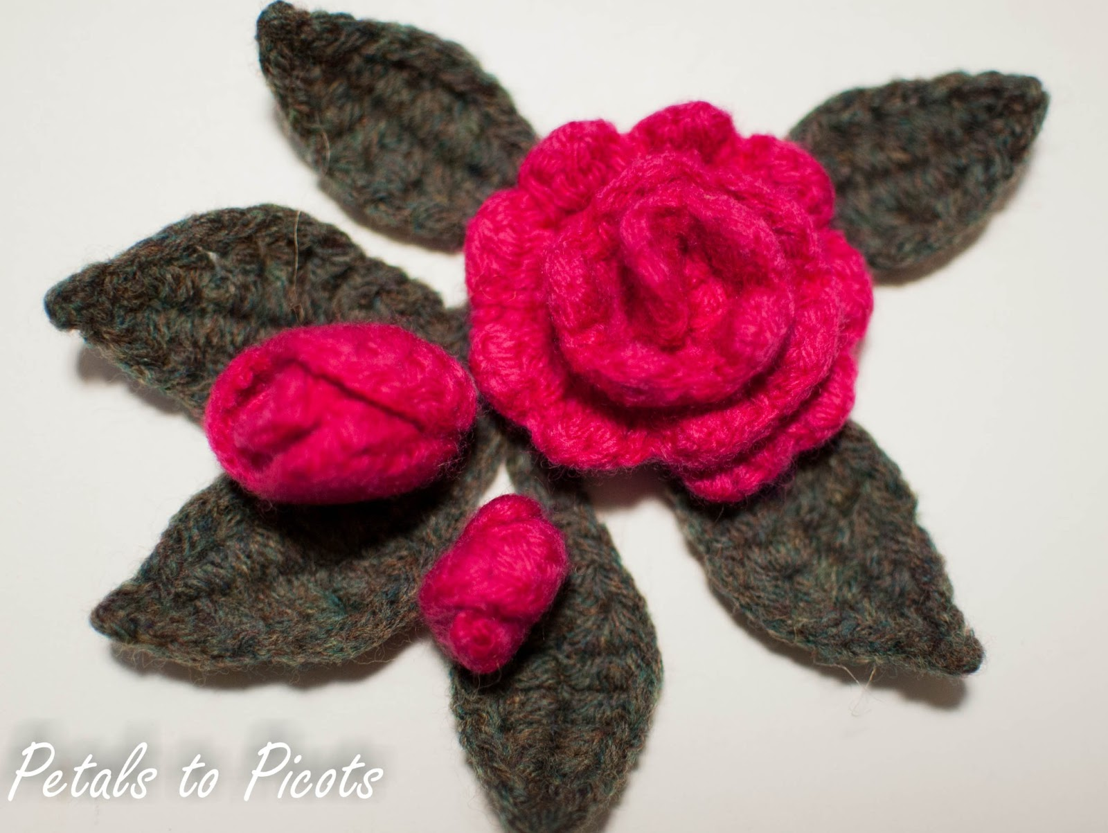 Modern Small Crochet Rose Pattern Gift - Easy Scarf Knitting ...