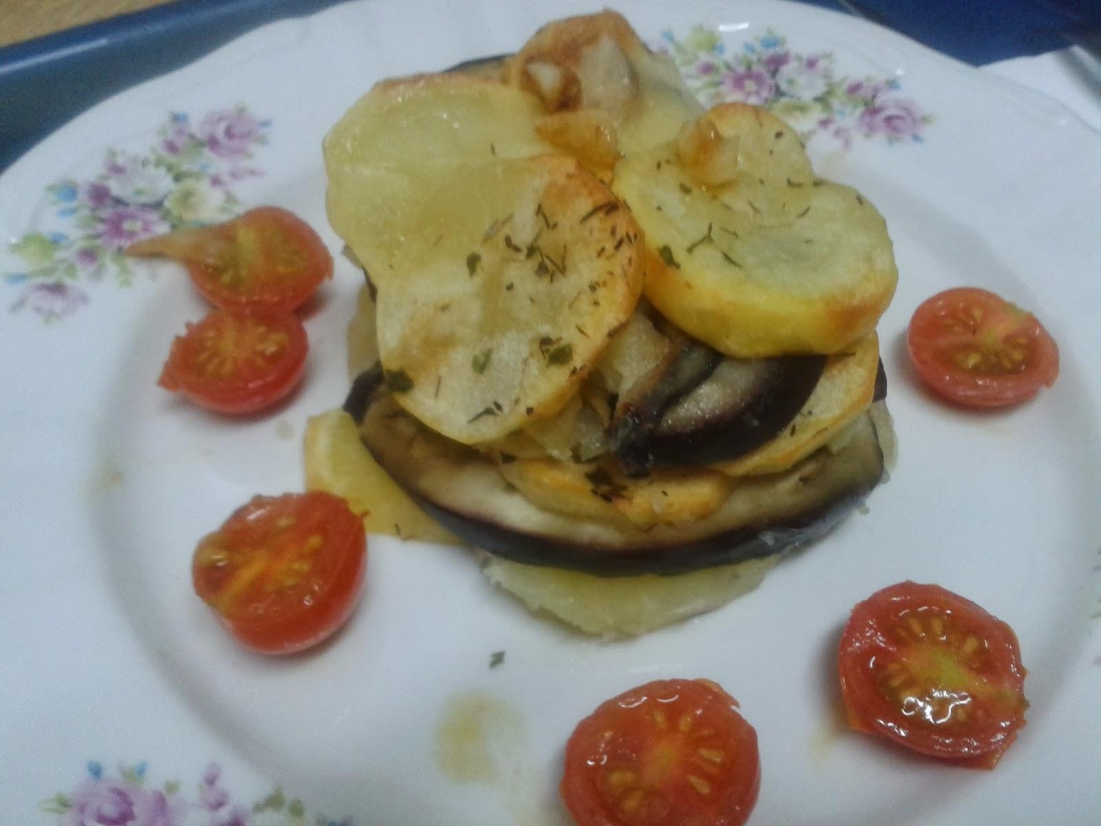 La Cocina De Beli Milhojas De Patata Y Berenjena