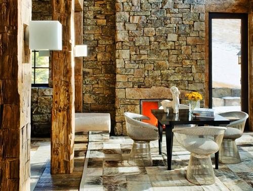 konsep desain interior rumah bergaya rustik
