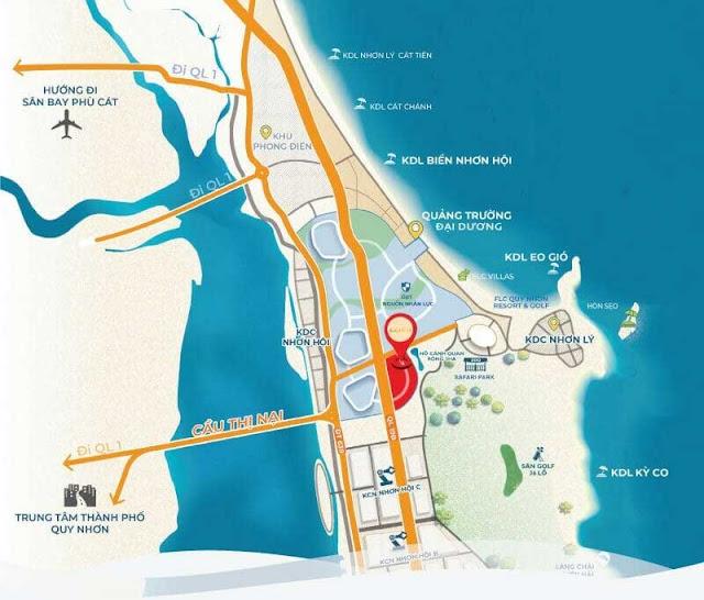 vị trí của dự án đất nền Kỳ Co Gateway Bình Định