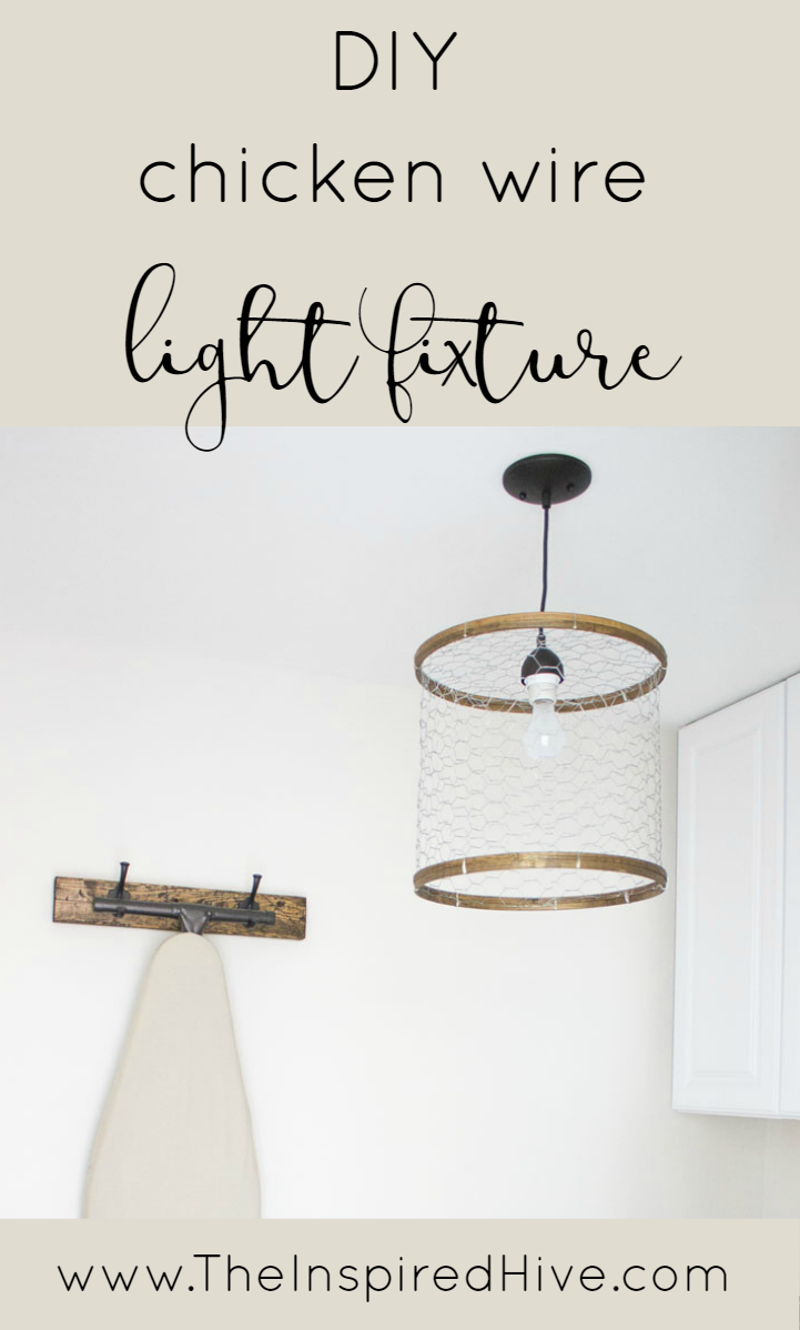 How To Make A Rustic Laundry Room Light Fixture Out Of En Wire