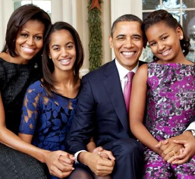 Foto de Michelle Obama con sus amores