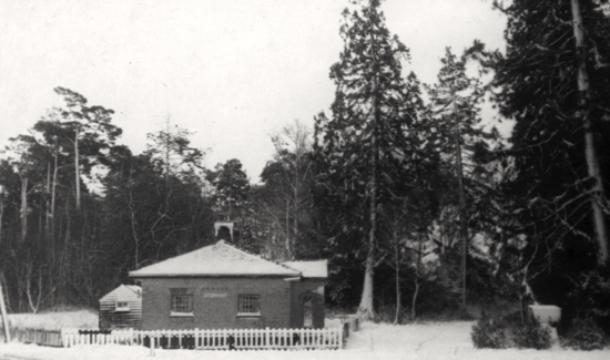 Photograph of the lodge to the old Brookmans House 1947. Image from the North Mymms Local History Society