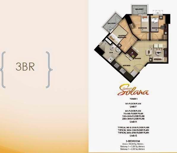 Solana 3 Bedroom Unit With 2 Balcony