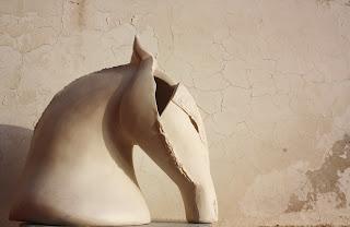 Horse ceramic head