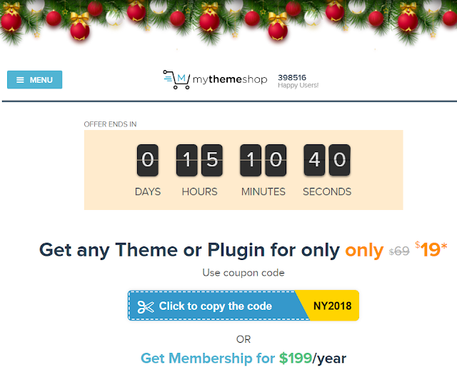MyThemeShop - New Years Extended Discount Offer
