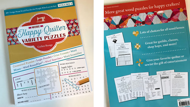 quilt themed puzzle book