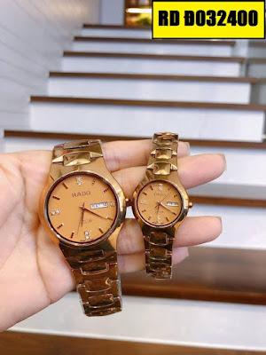 Đồng hồ cặp đôi màu vàng Rado RD Đ032400