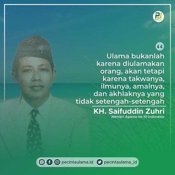 Kalam KH Saifuddin Zuhri Tentang Definisi Ulama