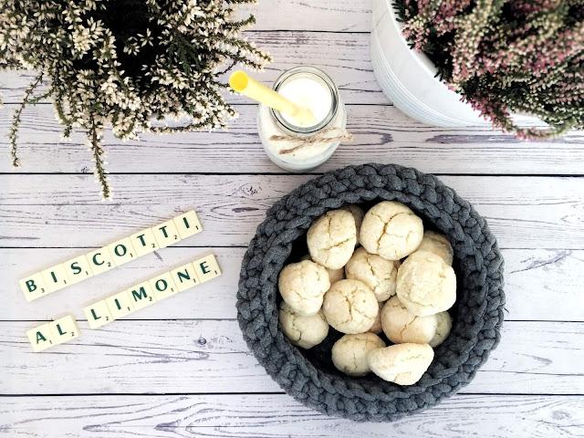Biscotti al limone, czyli proste cytrynowe ciasteczka