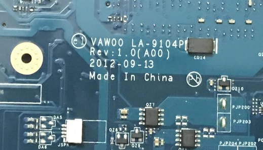 LA-9104P Rev 1.0(A00) VAWOO Dell Inspiron 3521 Bios