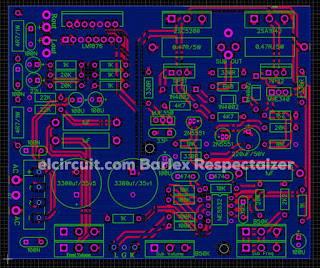 PCB Layout  2.1 Audio Amplifier using LM1876 + 2sc2922 2sa1216 OCL Subwoofer