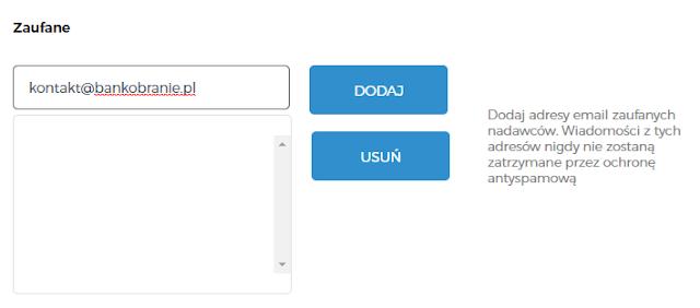 Poczta Interia.pl: jak dodać mail do zaufanych?