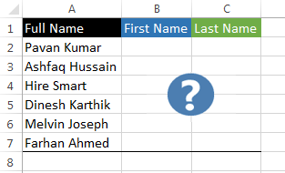 Steps to Use Excel Flash Fill