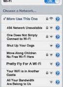 funny names of wifi pics in mobile