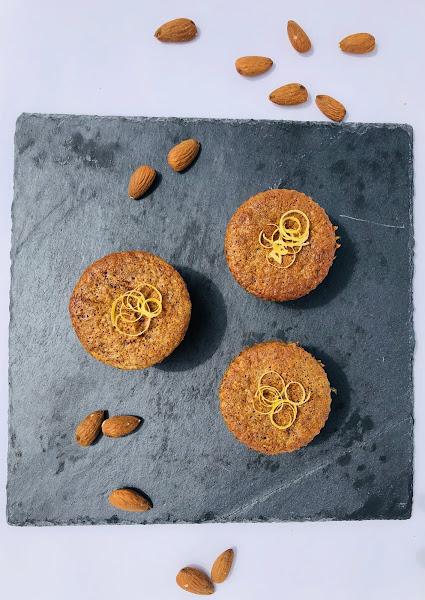Muffins aux amandes et au citron