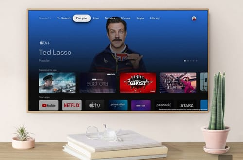 The Apple TV app can be used via Google Chromecast