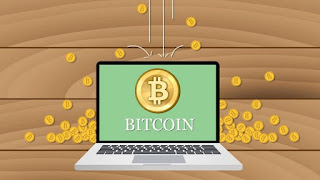 Bitcoin na monitore