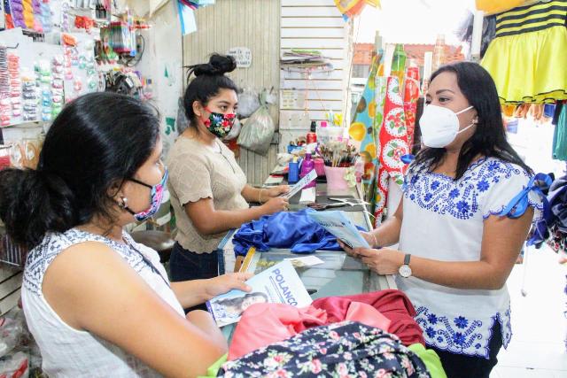 En unidad y en equipo con los ciudadanos logremos que Yucatán siga cambiando: Yesenia Polanco
