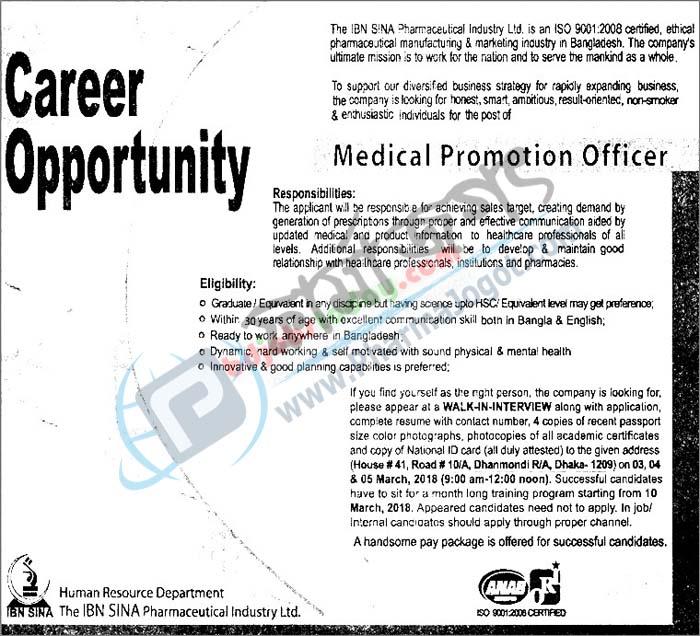 Pharma Jogot: Medical Promotion Officer @The Ibn Sina