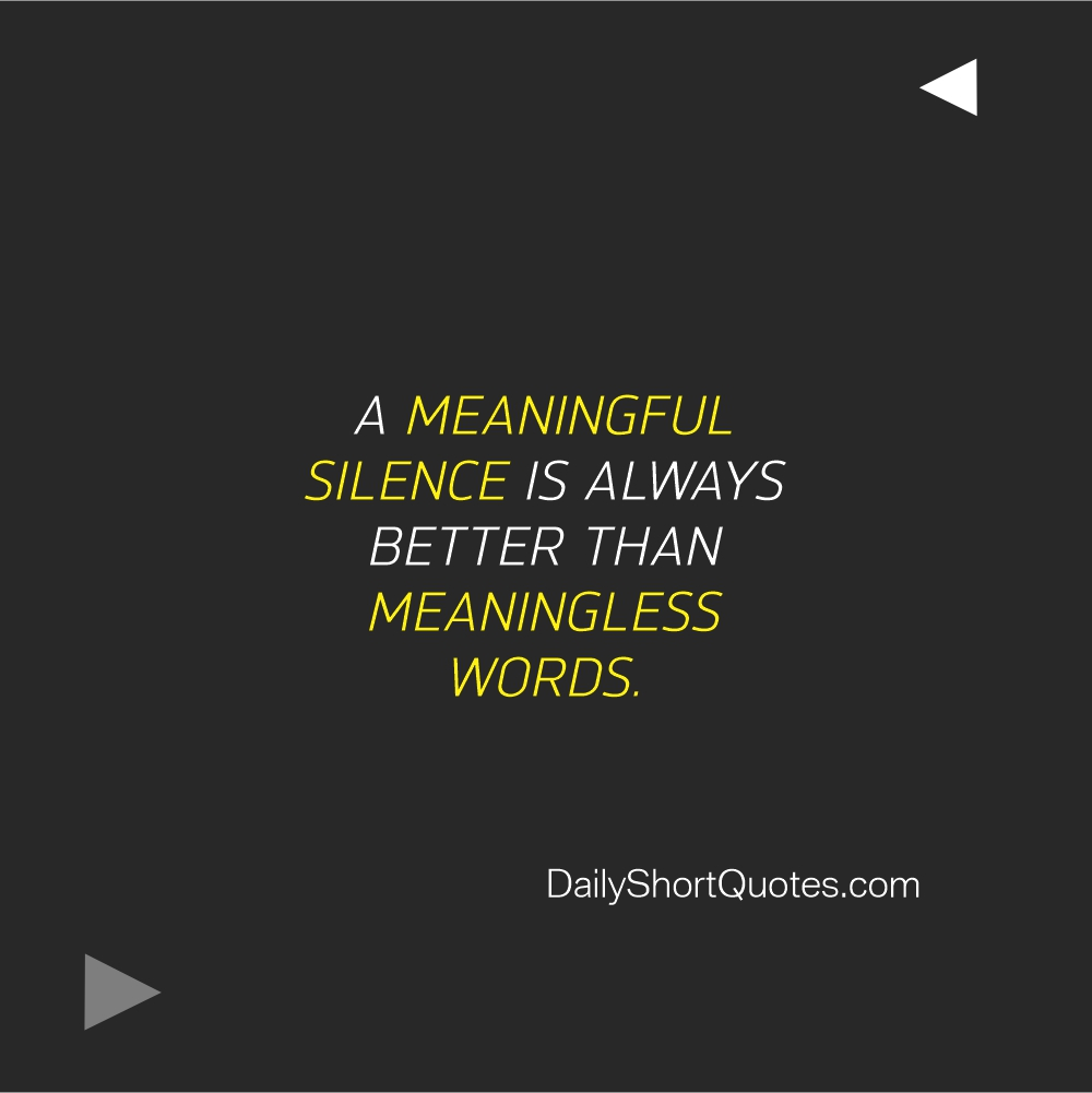 Attitude Quotes on Silence and Words