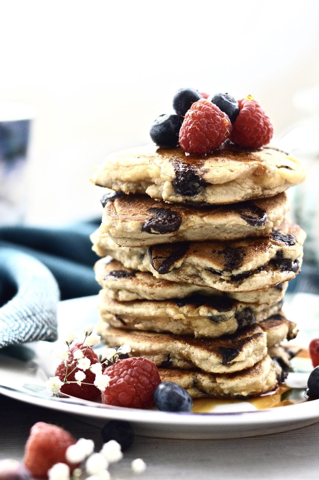 ... Silver Dollar Chocolate Chip Pancakes (Gluten Free, Grain Free, Dairy
