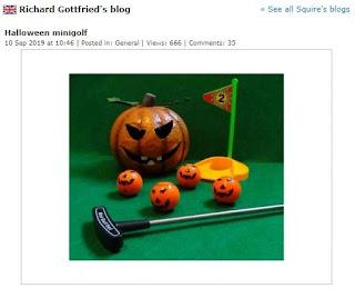 Halloween minigolf guest blog post at Minigolfnews