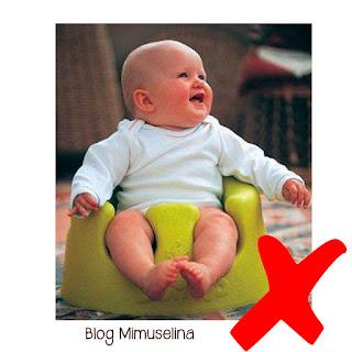 sillones de plástico mala postura para bebés no usar productos para niños blog mimuselina
