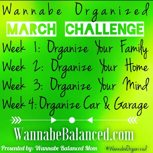 Wannabe Organized: 4 week home organization schedule